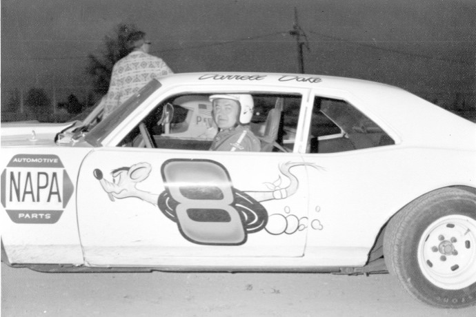 "Darrell's #8 frequently showed the ""rat"" on the side of his car. (Kyle Ealy photo)"