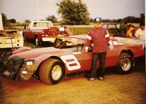 Each time I met Darrell I tried to get his photo. I took this shot at the Freeport Raceway in 1981.
