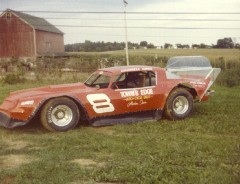 Darrell was racing at Freeport on Sunday nights back in early 80s. (Dennis Piefer photo)