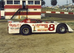 Darrell raced all over the Midwest. This was his ride in 1991 at the Dubuque Speedway.