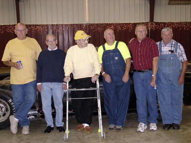 Another shot with Darrell and his team - left to right, Marv, Hubbard, Darrell, Page, Vern Naley and Ron. (Kenny Walton photo collection).