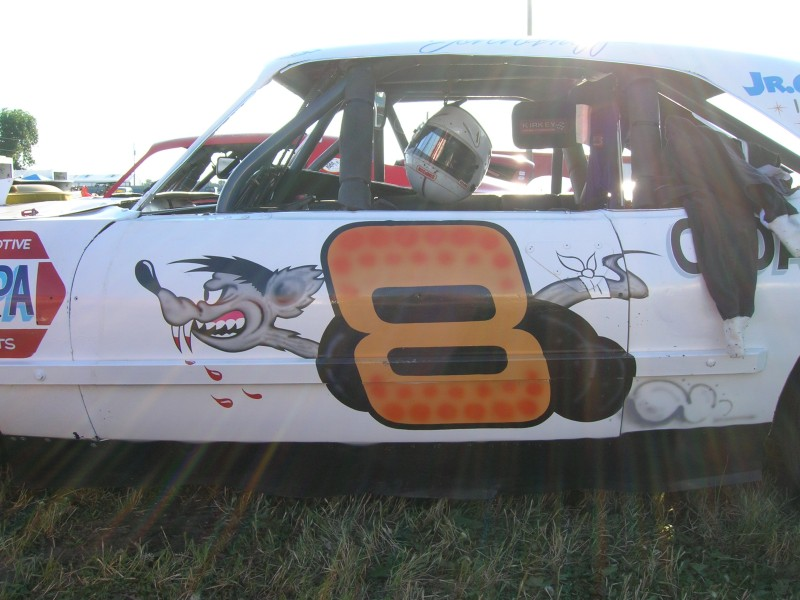 "His ""eights"" frequently showed a rat being chewed up just as the replica car shows today. (Kyle Ealy photo)"