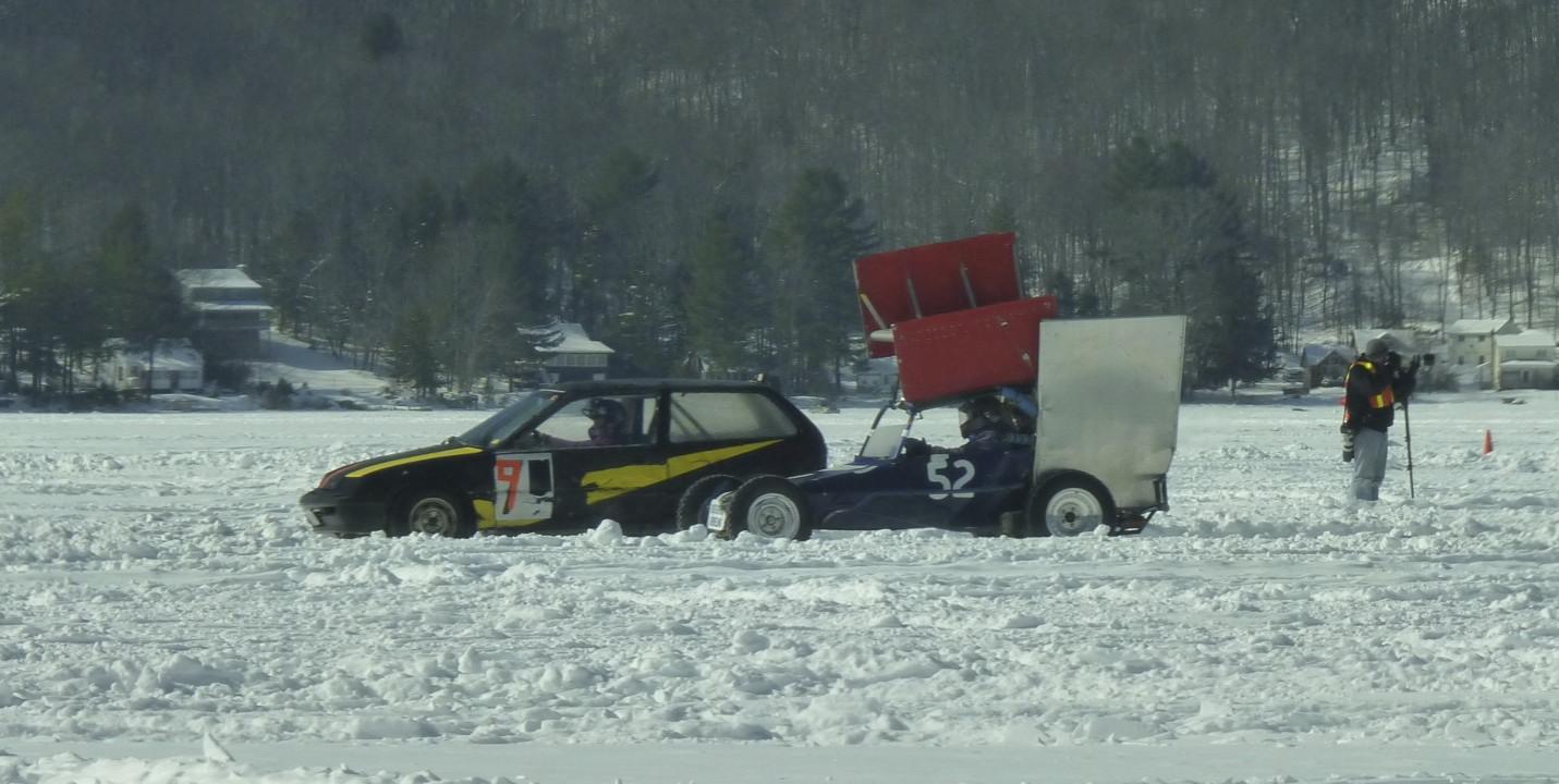 Racing action on Caroga Lake.