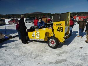 Caroga Lake ice racing.