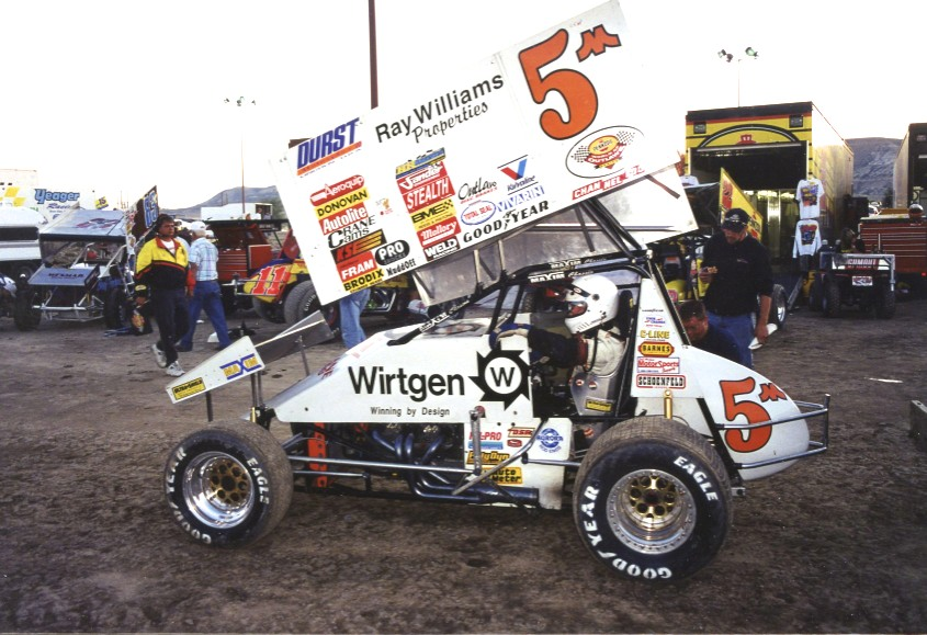 Mark Kinser, cousin to Steve Kinser, was an excellent driver and World of Outlaws champion.