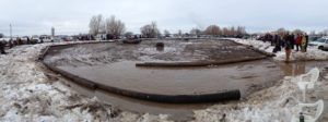 The panoramic view of the Rexburg figure 8 track.