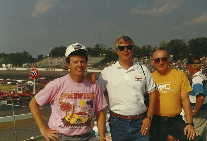 Jim Sabo and my stepfather Bill Virt join me at Richmond in 1991.