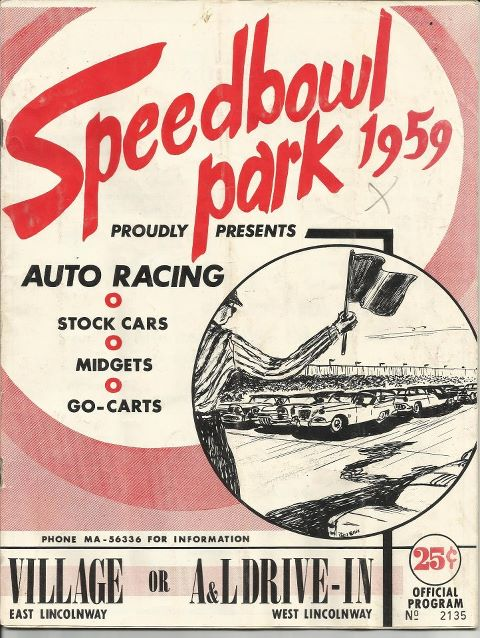 Sterling Speedbowl Park - 1959 race program