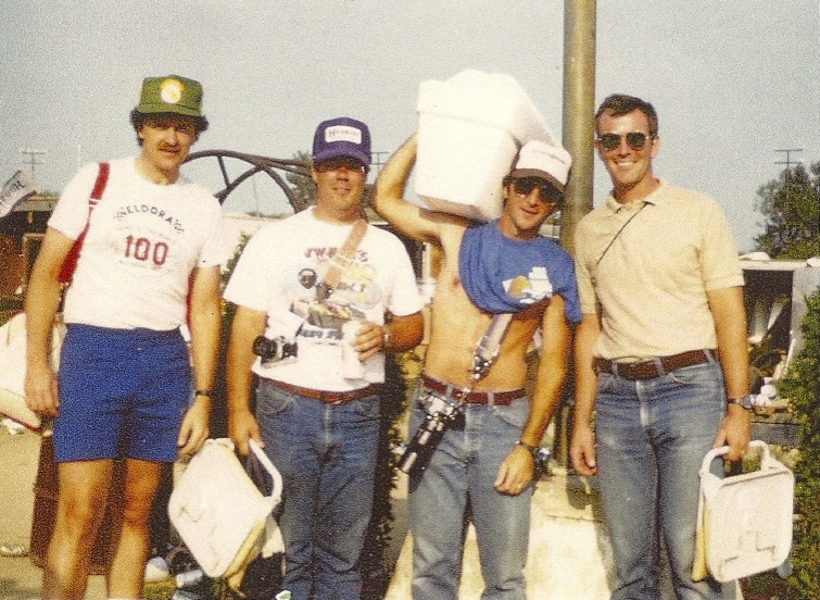 Randy, Jim Sabo, Pete Kreyling and John Kane at an early 80s World 100.