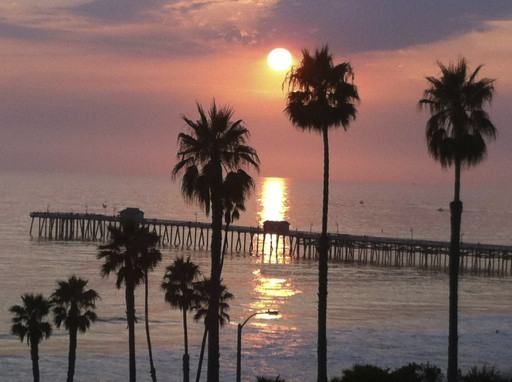 San Clemente sunset from our deck.