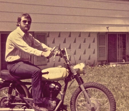 I didn't always drive cars. This was my Ducati 250.