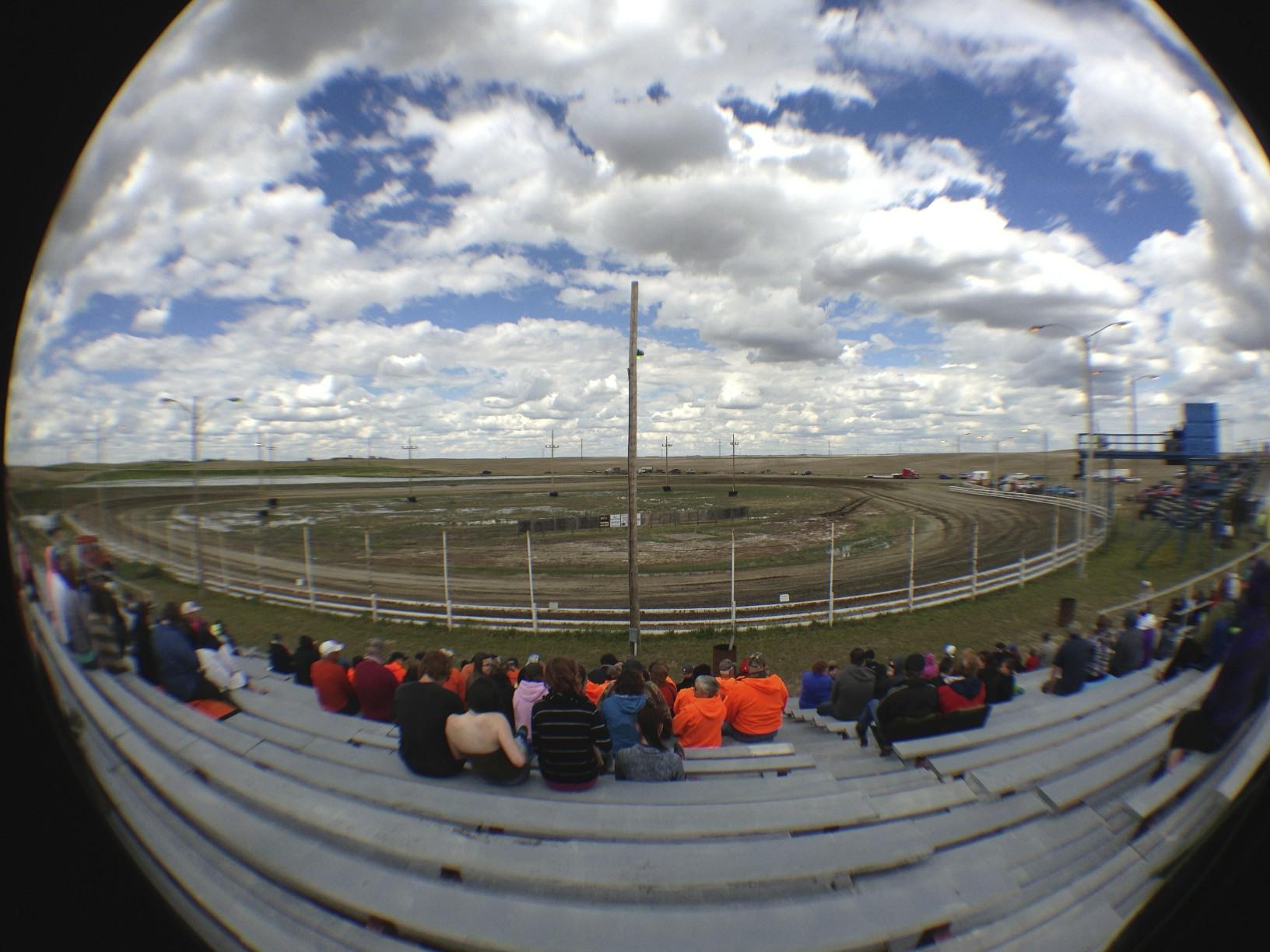 Flatlanders Speedway - A true tri-oval.