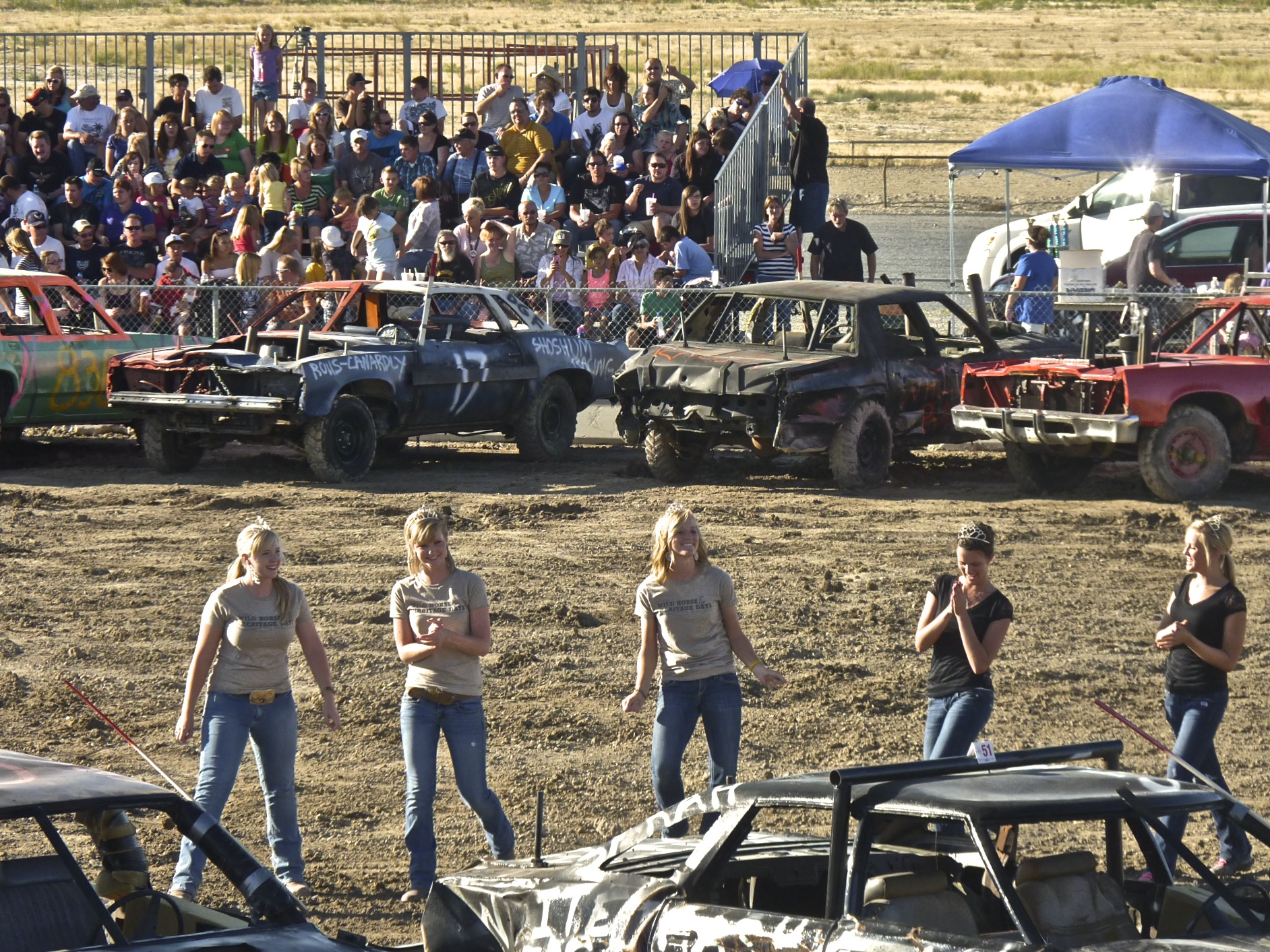 The Tooele County Fair race queens.