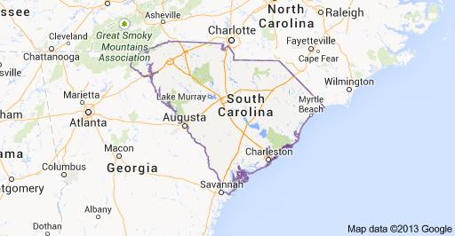S. Carolina map