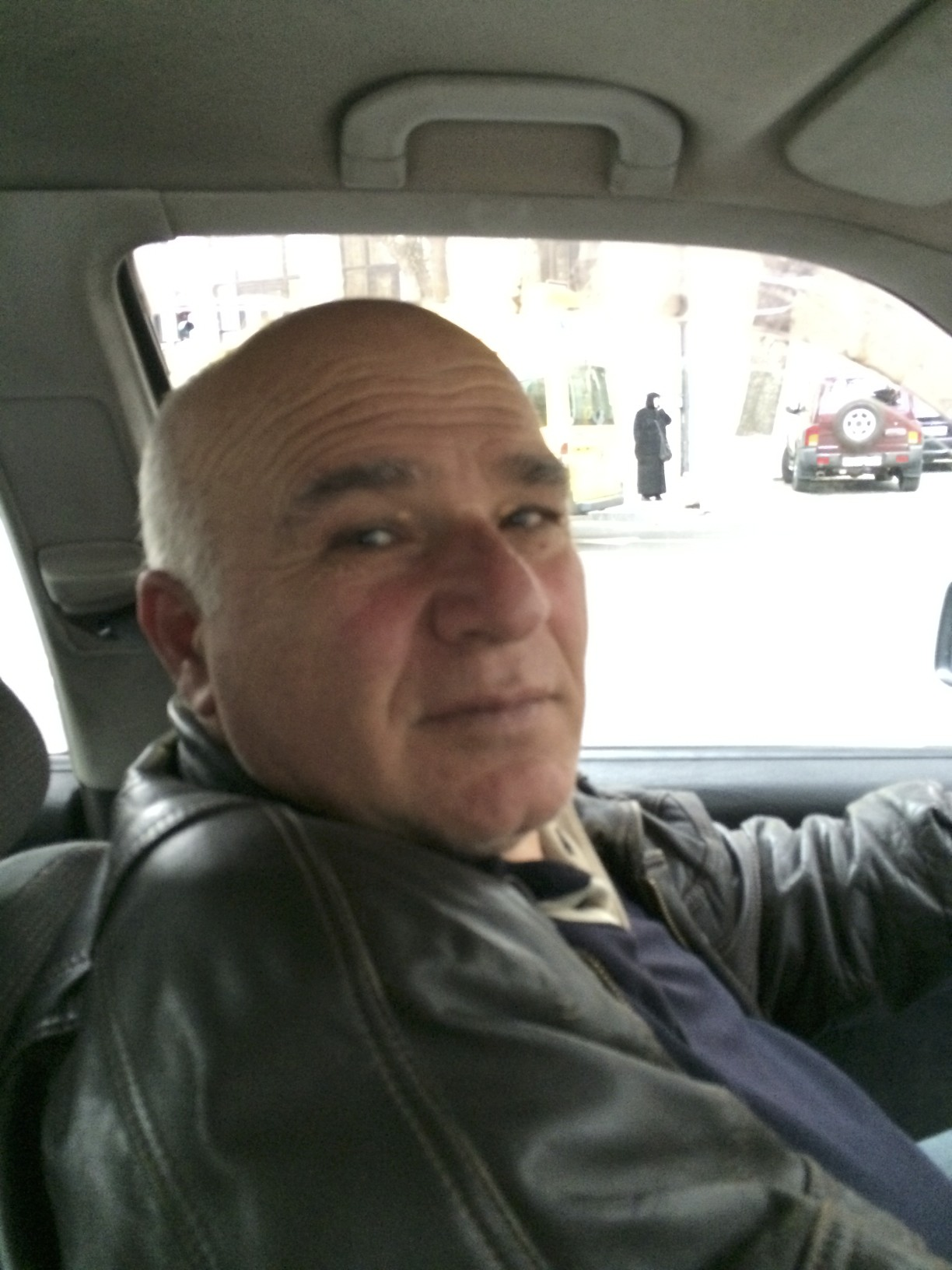 One of my typical Georgian taxi drivers