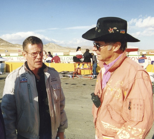 Bobby Unser was the grand marshall on this day at Willow Springs.