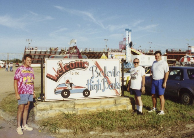 My brother Mark and I treated my stepfather Bill to a Father's Day trip to the Belleville Nationals.  It was a hot one.