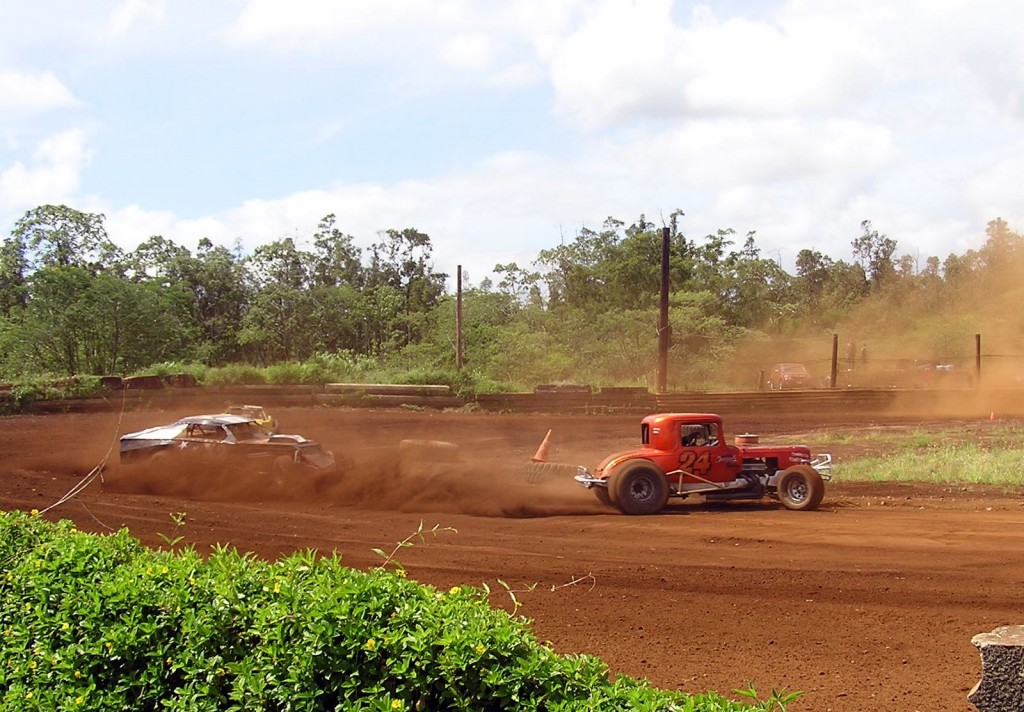 Racing on the Big Island in Hawaii.