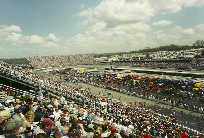 Martinsville Speedway is one of my favorite NASCAR tracks. I've been there several times. This photo was taken at a 2002 event.