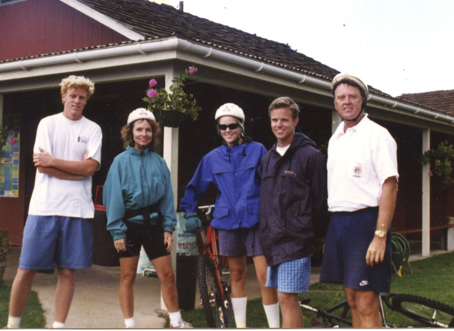 Our family has also stayed pretty active.  This was our family bike ride down Haleakola in Maui.