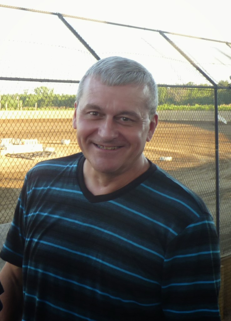 Scott Shults, Quad Cities Speedway announcer and founder of the Peoria Old Timers Racing Club.