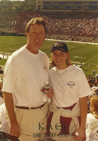 Daughter Kristy at UCLA Dad's day