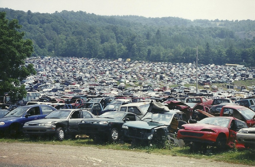 Now THAT'S a junkyard in rural Pennsylvania.