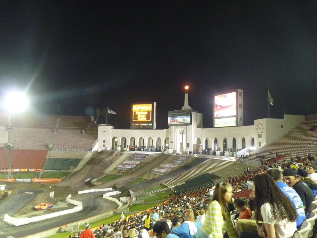 Racing at the venerable Los Angeles Memorial Coliseum home to the 1936 and 1984 summer olympics.