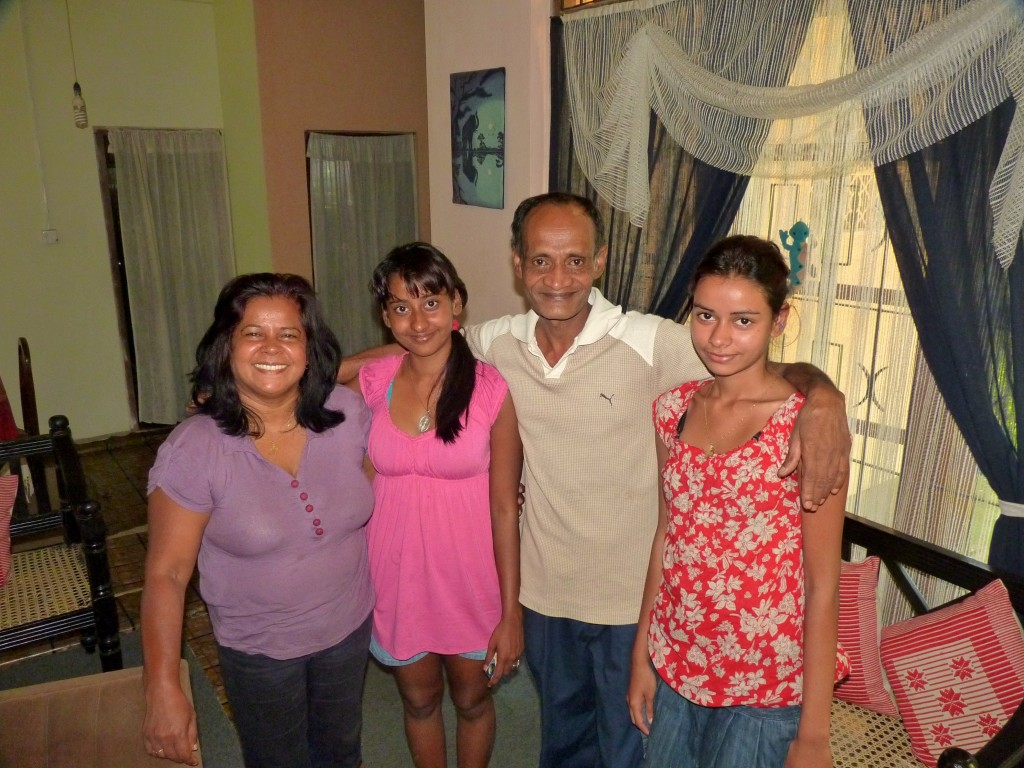 This lovely Sri Lankan family hosted me in their home for lunch and conversation all afternoon.  Chandra, Ashini, Laleet and Chahini - What a great family!