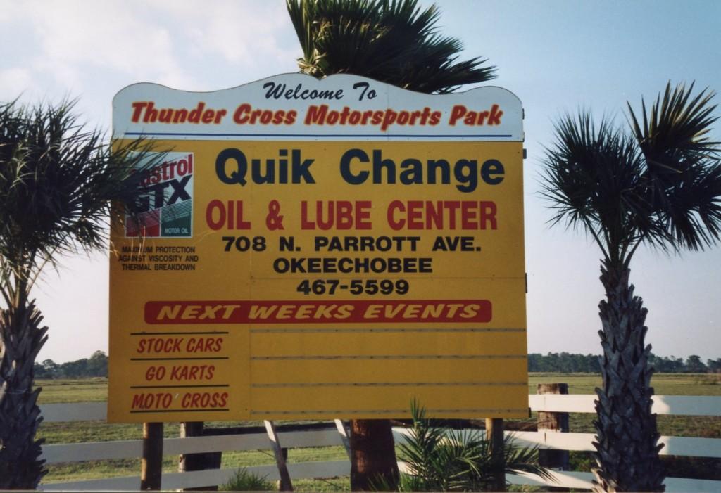 I opened the 1998 season in a place called Lake Okeechobee.
