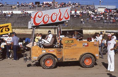 Workin' Woody was the World of Outlaws full-time push truck pictured here at Skagit Speedway.