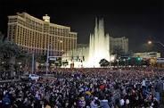 Las Vegas crowds