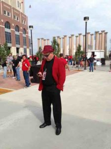 Nebraska fan red coat