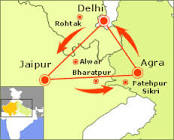 indian golden triangle map