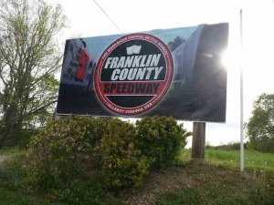 Franklin County Speedway sign