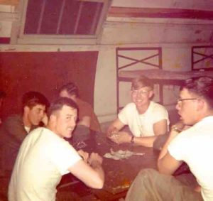 Playing cards in Marines 1972