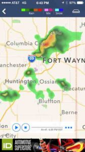 Indiana hoagland weather map