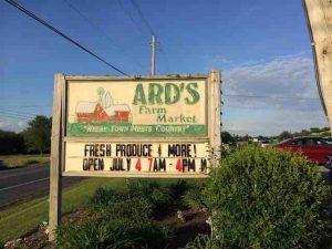 ards farm market sign