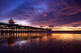 san clemene pier sunset