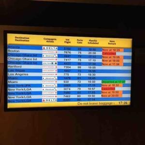 Flight schedule board 30