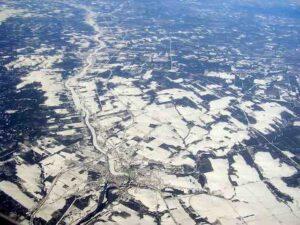 aerial snow