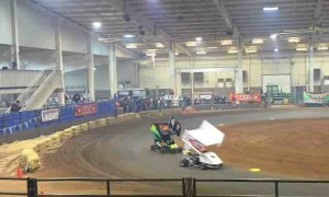 caged kart racing