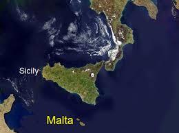 malta sicily map