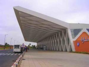The Marrakesh airport (RAK) has a most unusual design.