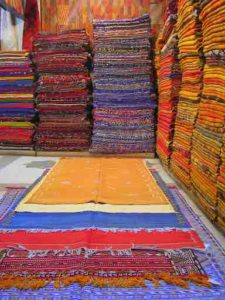 This was all handmade Moroccan wool carpet.