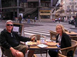 Nothing like eating outdoors in a European cafe.