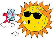 sun hot weather