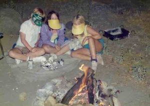 Shawnee's in the middle on one of our camping trips