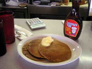 Sweet Potato Pancakes and a stick of butter. What could be better?