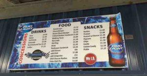 longdale concession menu